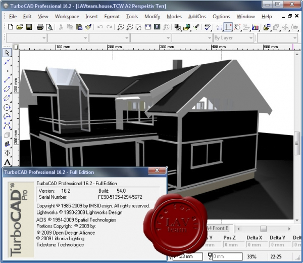 IMSI TurboCAD Pro Platinum v16.2 build 54.0