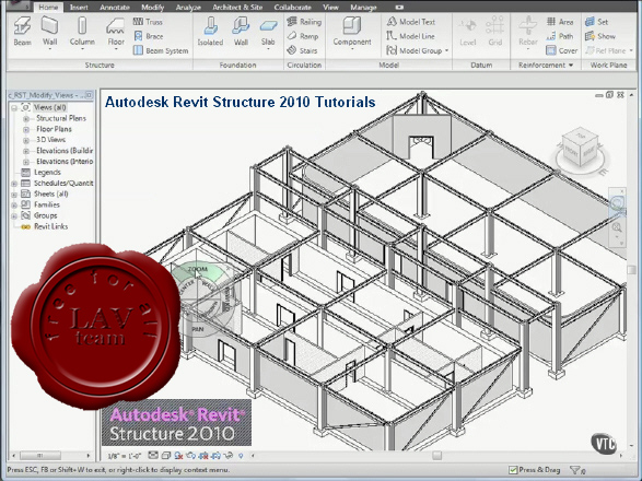 VTC Autodesk Revit Structure 2010 Video Tutorials