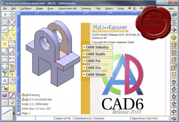 Malz++Kassner CAD6 Industry Release v2010 build 2010.02.12
