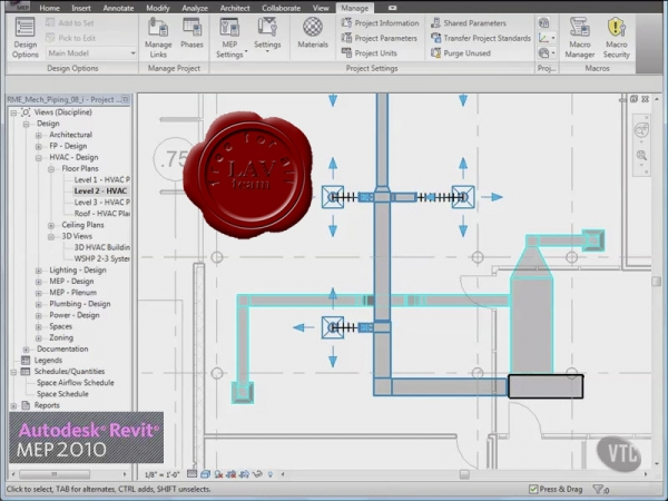 VTC Autodesk Revit MEP 2010 video tutorials