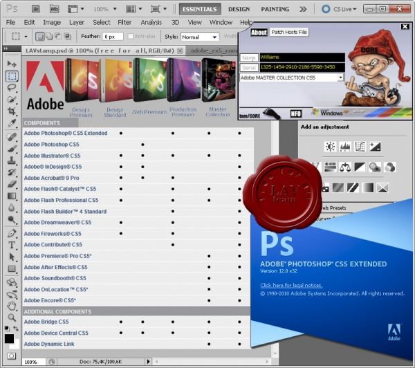Adobe CS5 Master Collection ESD x86+x64