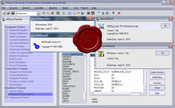 Intelligent Manufacturing Software IMSpost v7.4p