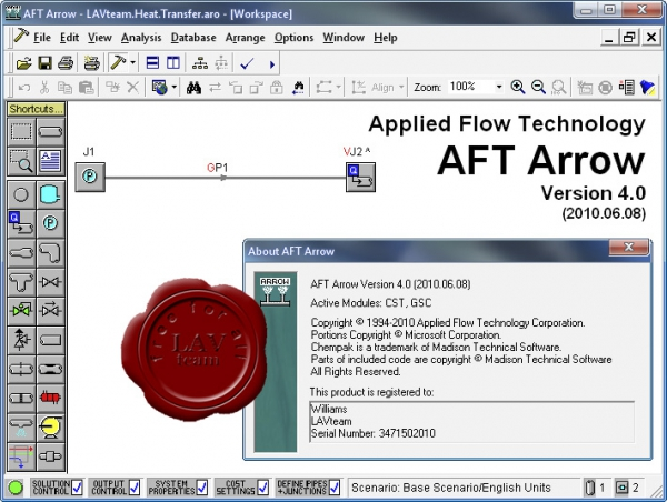 Applied Flow Technology Arrow v4.0.2010.06.08