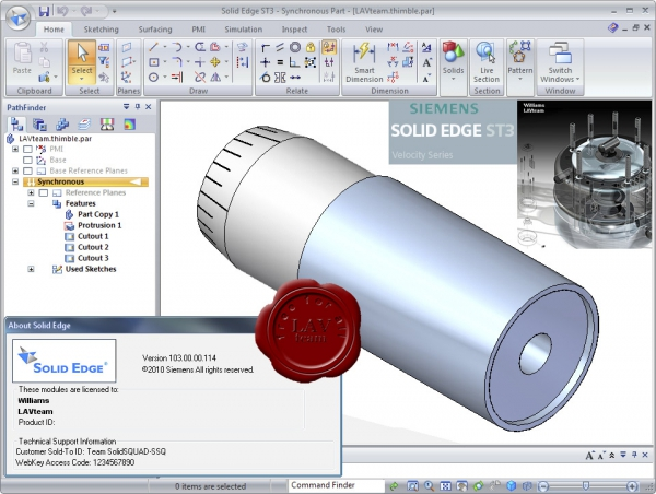 Siemens PLM Software Solid Edge ST3 v103.00.00.114