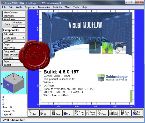 Schlumberger Visual MODFLOW 2010.1 build 4.5.0.157