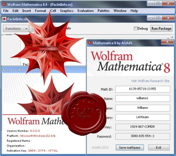 Wolfram Research Mathematica v8.0.0.0