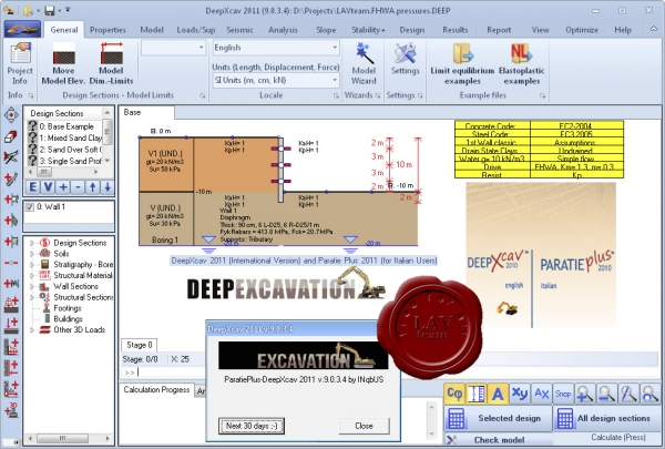 Deep Excavation DeepXcav 2011 v9.0.3.4