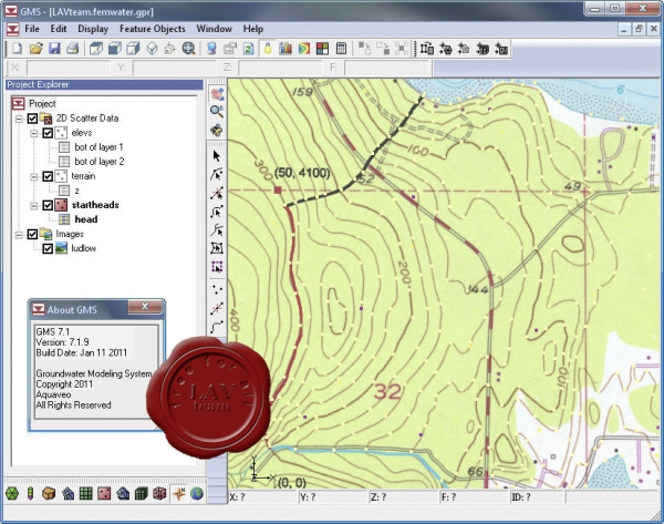 Aquaveo Groundwater Modeling System v7.1.9