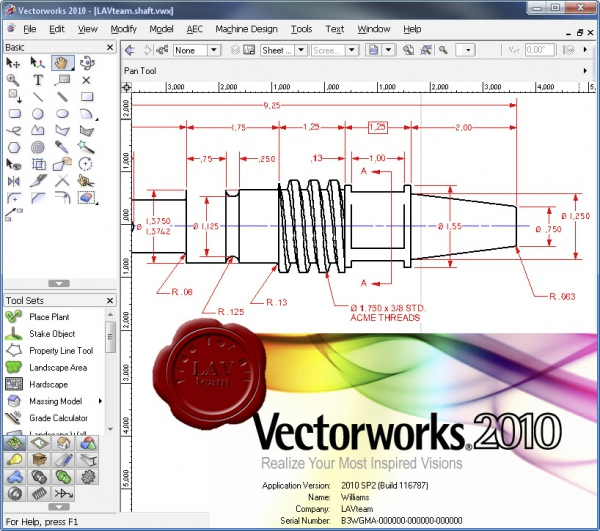 Nemetschek Vectorworks 2010 SP2 build 116787
