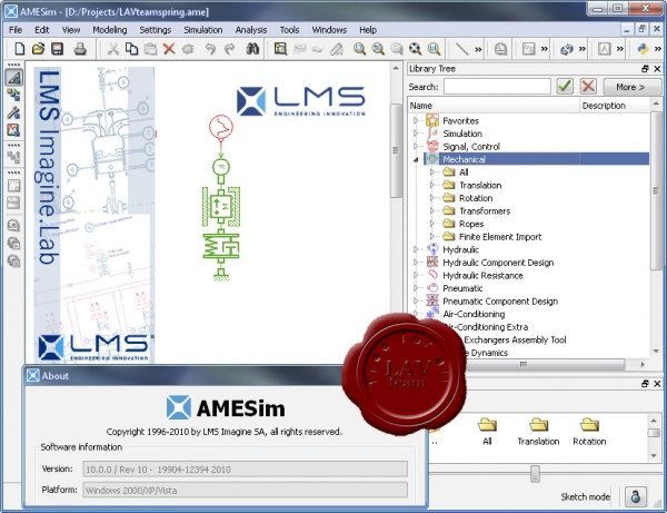 LMS Imagine.Lab AMESim v10.0.0 Rev 10 19904-12394