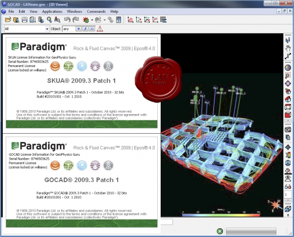 Paradigm SKUA/GOCAD Engineering Modeling 2009.3 Patch 1