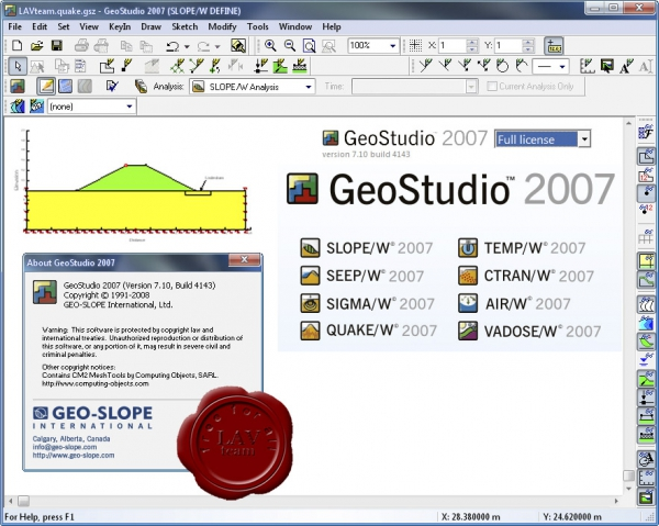 GEO-SLOPE GeoStudio 2007 v7.10.4143