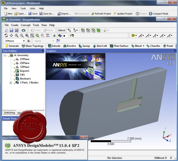 SP2 for ANSYS v13.0 Multiphysics