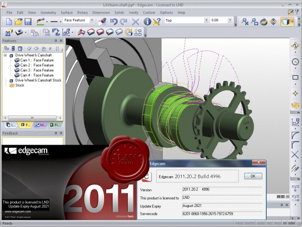 Planit Edgecam v2011.20 SP2 build 4996