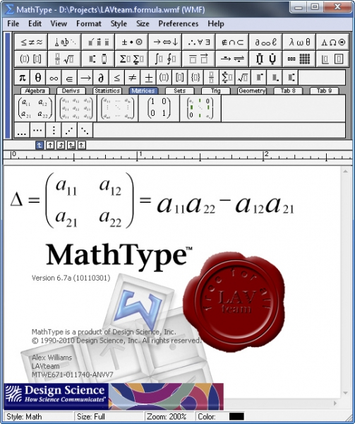 Design Science MathType v6.7a