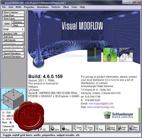 Schlumberger Visual MODFLOW 2011.1 build 4.6.0.159