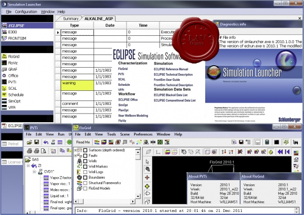 Schlumberger ECLIPSE Simulation v2010.1