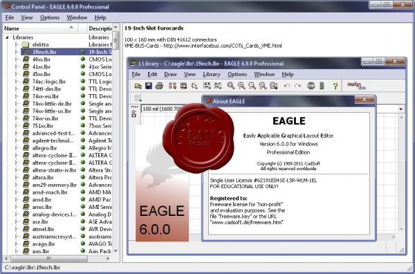 CadSoft Eagle Professional v6.0.0