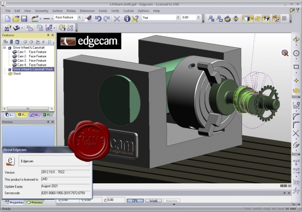 Planit Edgecam v2012.10.0 R1 build 7022