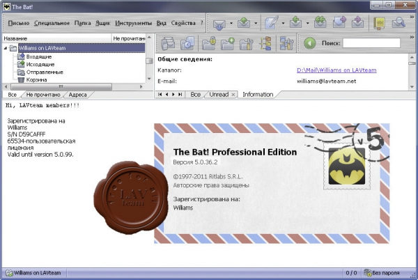 Ritlabs The Bat! v5.0.36.2