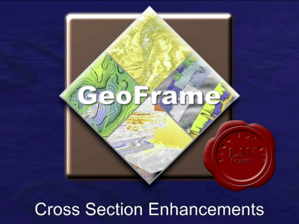 Schlumberger GeoFrame 2012 video library