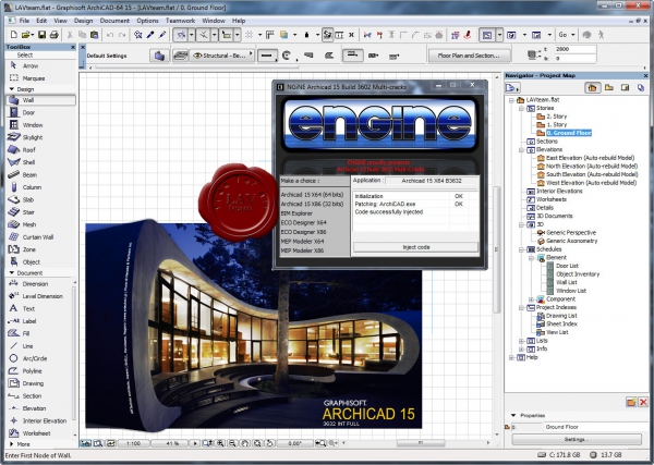 Hotfix 3 build 3632 for Graphisoft Archicad v15