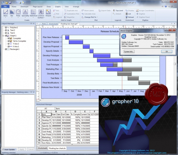 Golden Software Grapher v10.0.520