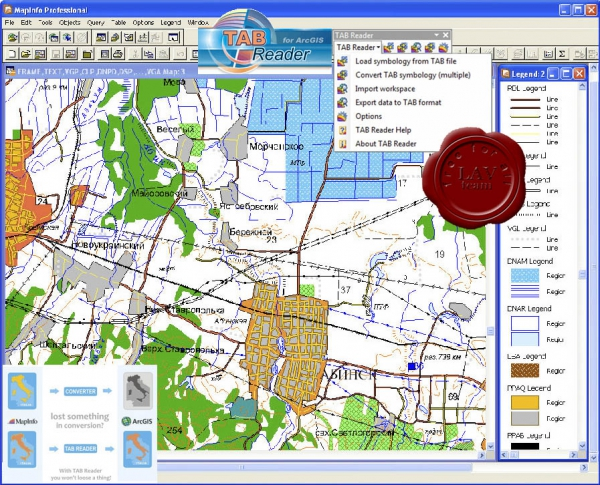 Data East Utils for ArcGIS Desktop: Tab Reader v4.1.0.208