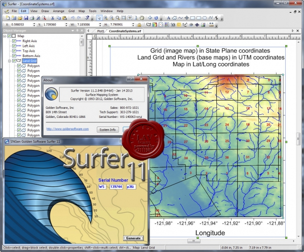 Golden Software Surfer v11.2.848