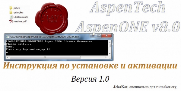 fixed medicine and instruction for Aspen Technology aspenONE v8.0