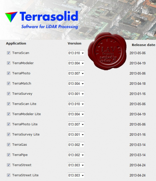 Terrasolid apps v13
