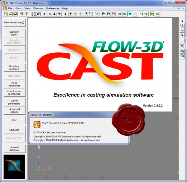 Flow Science Flow-3D CAST v3.5.2.2