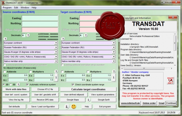 Killetsoft TRANSDAT v16.60