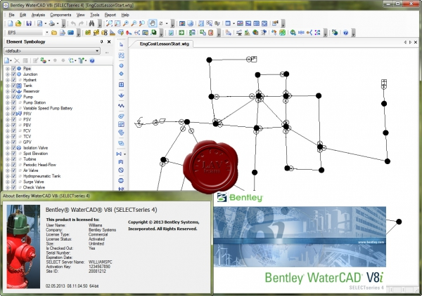 Bentley WaterCAD V8i SS4 08.11.04.50