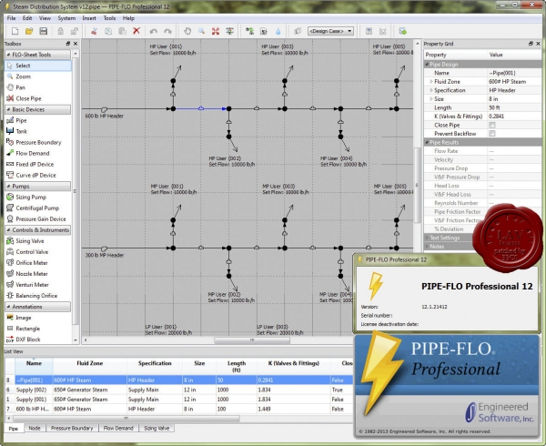 Engineered Software PIPE-FLO Pro v12.1.21412