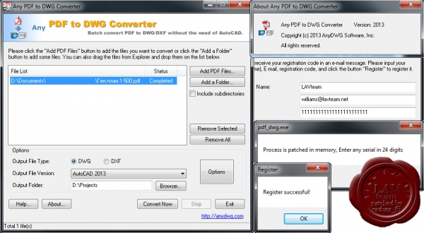AnyDWG Any PDF to DWG Converter v2013