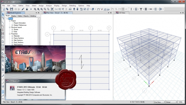 CSI ETABS 2013 v13.1.3 build 1065