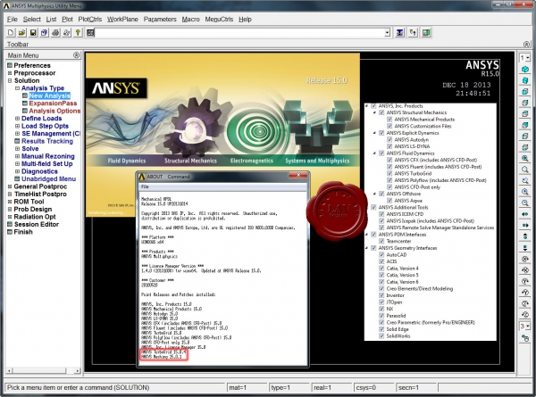ANSYS products v15.0.4/1