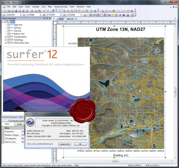 Golden Software Surfer v12.0.626