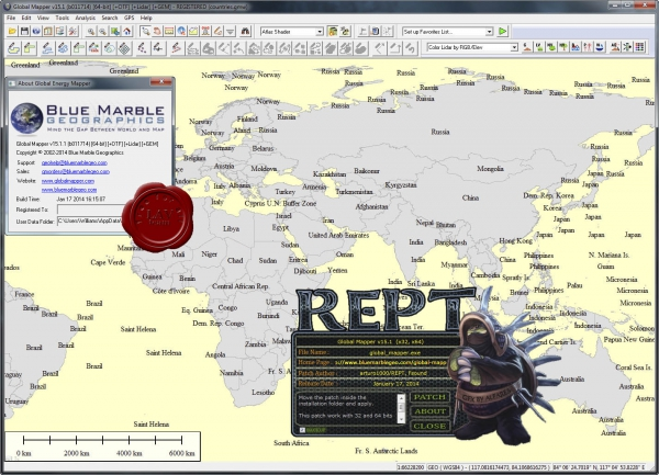 Global Mapper v15.1.1.011714 x86+x64