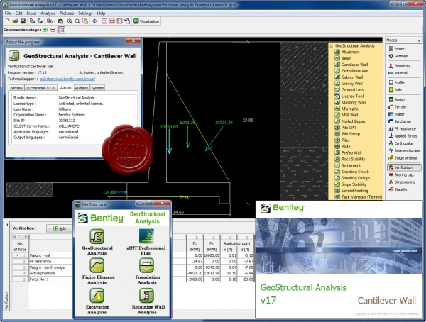 Bentley GeoStructural Analysis v17.00.33.00
