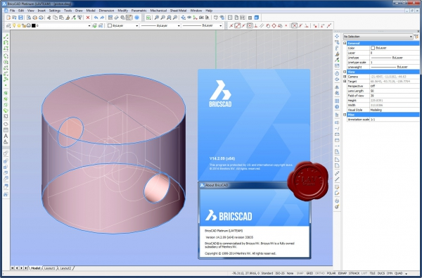 Bricsys Bricscad Platinum v14.2.09.33835 english