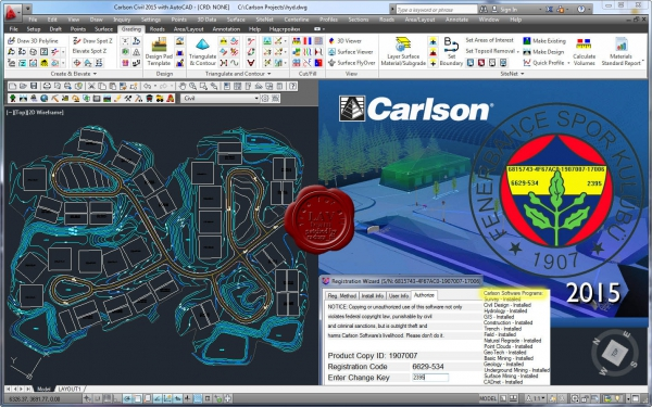 Carlson Civil Suite 2015 build 140721