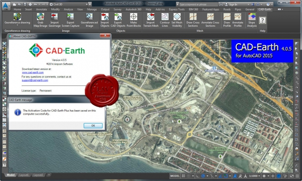 Arqcom CAD-Earth v4.0.5 for AutoCAD 2007-2015