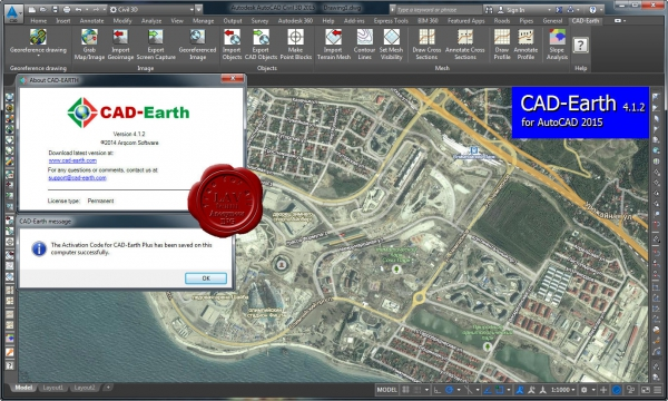 Arqcom CAD-Earth v4.1.2