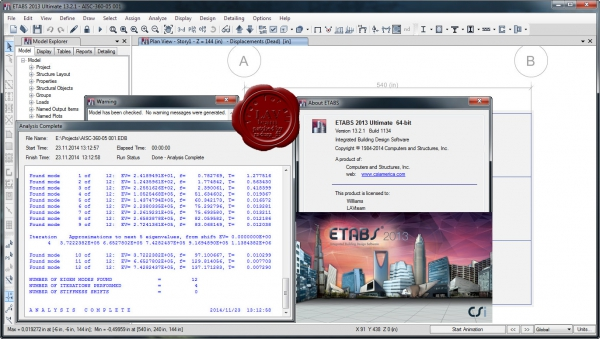 CSI ETABS 2013 v13.2.1 build 1134