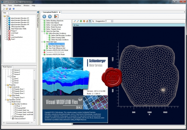 Schlumberger Visual MODFLOW 2014.2