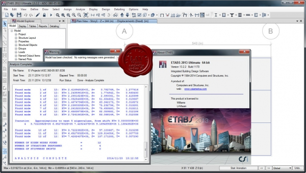 CSI ETABS 2013 v13.2.2 build 1170