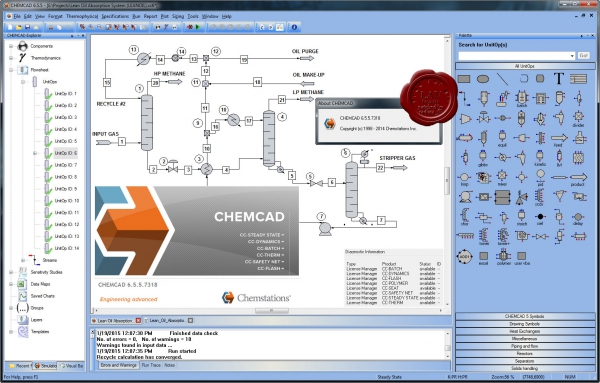 Chemstations CHEMCAD Suite v6.5.5.7318