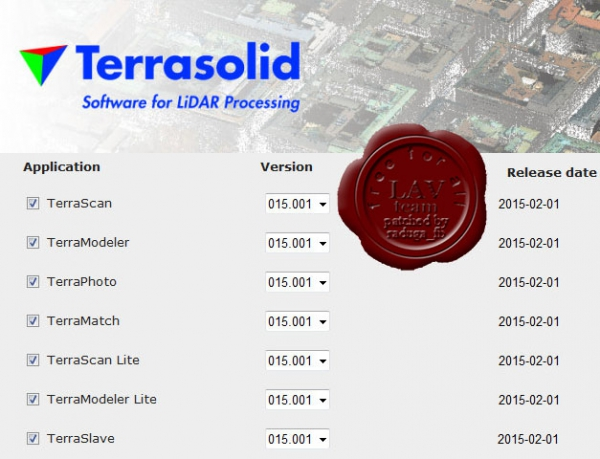 Terrasolid apps v15